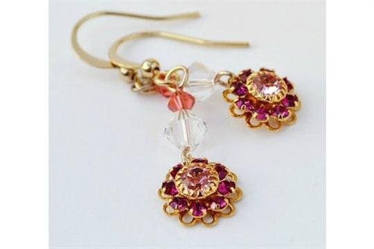 Keeping Things Simple... DIY Spring flower earrings