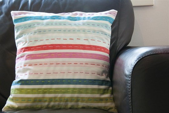 Hand Stitched Envelope Pillow