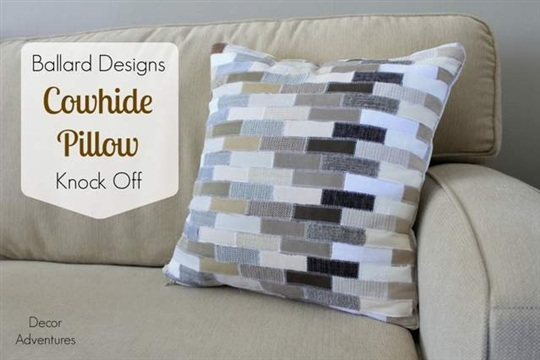 Knock Off Ballard Designs Cowhide Pillow
