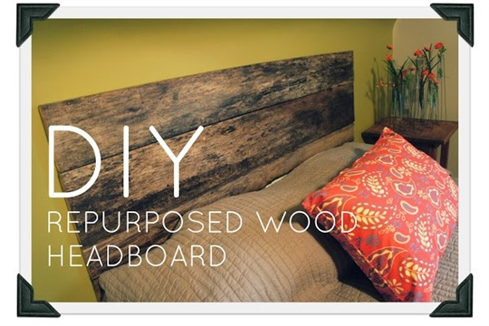 Ugly is Beautiful DIY Re purposed Wood Headboard