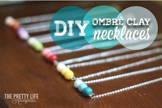 The Pretty Life Girls DIY Ombre Clay Necklaces