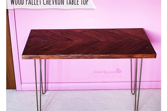 How to Make a Chevron Table from Reclaimed Wood Pallet