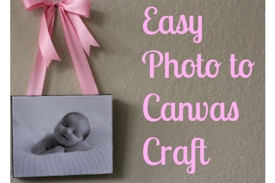 Easy Photo to Canvas Craft {Tutorial}
