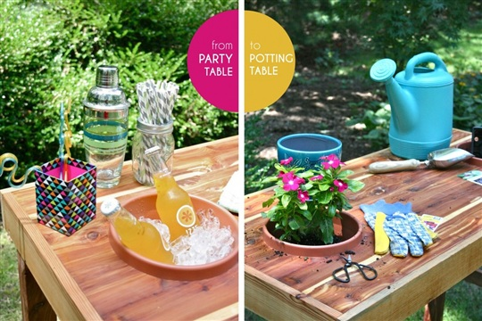 Dual Purpose Party+Potting Table {with 3M}