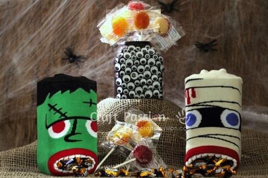 Easy Halloween Candy Holders Tutorial