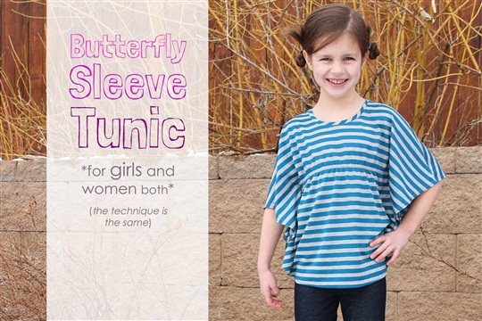 Butterfly Sleeve Tunic (a top for women and girls) Make It and Love It