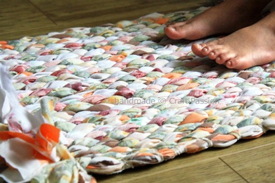 Woven Rag Rug Recycle Craft