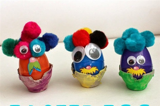 Easter Egg Kid Craft Pom Pom Creatures