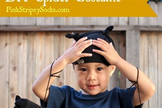Easy DIY Kids Spider Costume