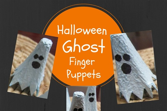 Halloween Ghost Finger Puppets in 4 Simple Steps!
