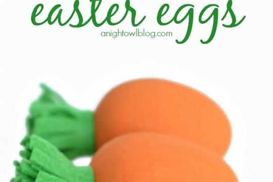 DIY Carrot Easter Eggs