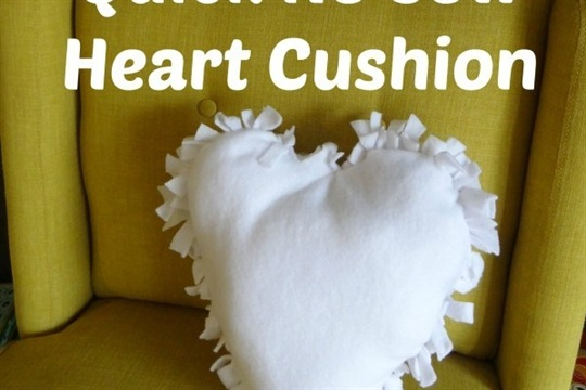 Valentine's Day No Sew Heart Pillow