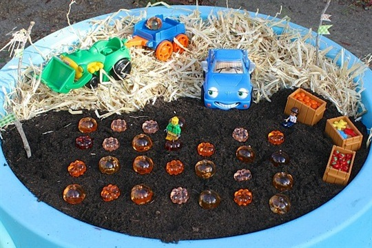Halloween Activity for Toddlers Pumpkin Patch Small World Sensory Play
