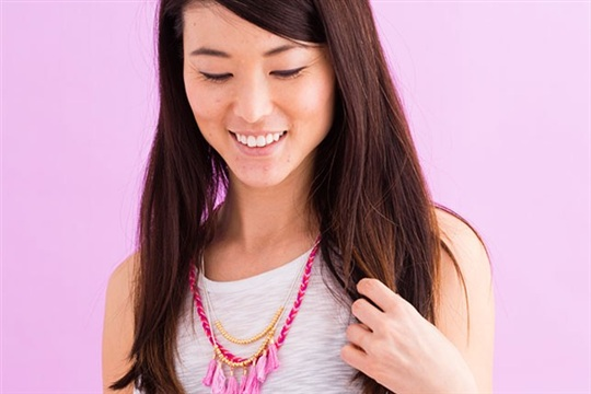 Use Your Old Friendship Bracelet Making Skills for This New Necklace
