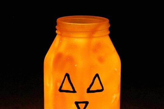 Pumpkin Mason Jar Luminary