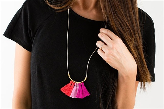 Make Your Own Tassel Fringe Necklace in Under 20 Minutes