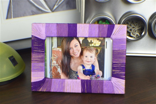 DIY Ombre String Wrapped Frame