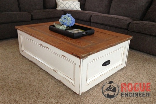 DIY Coffee Table with Storage Free Plans