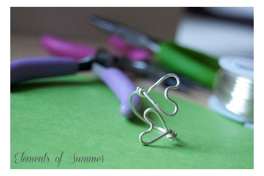 Wire Wrap Rings (hearts & roses)