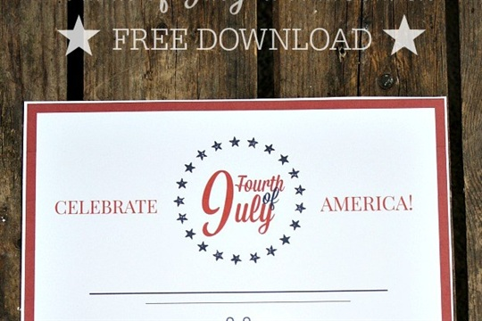 Free Printable Fourth of July Word Search