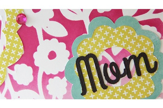 Flower Stencil Mothers Day Card
