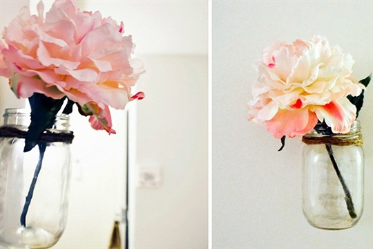 DIY Floating Mason Jar Vase