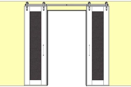 DIY Double Sliding Doors with Chalkboard