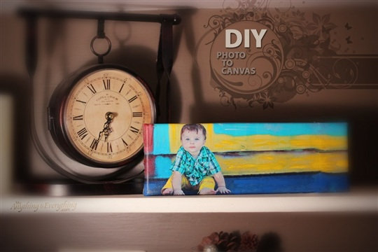 DIY Photo to Canvas Tutorial Anything & EverythingAnything & Everything