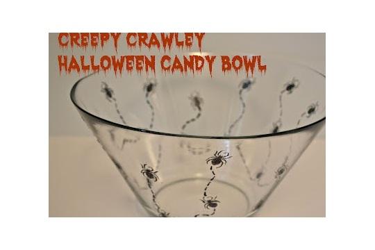 Creepy Crawley Halloween Candy Bowl