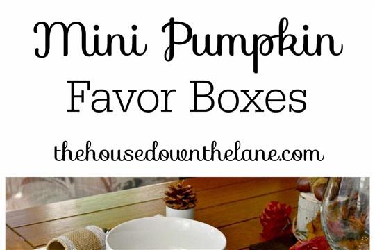 DIY Mini Pumpkin Favor Boxes