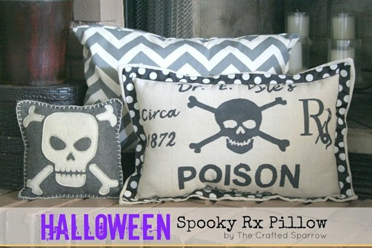 Halloween Spooky RX Pillow {Target Knock Off}