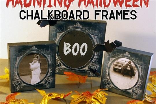 DIY Haunting Halloween Chalkboard Frame!