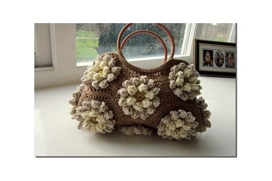 Gorgeous 3D Lilly Flower Crochet Bag
