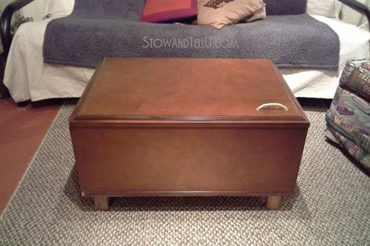 Upcycled Kitchen Cabinet Coffee Table Stow&TellU