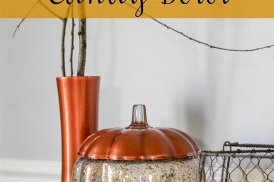 Glitter Pumpkin Candy Bowl