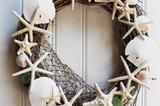 Pottery Barn Inspired Shell Wreath