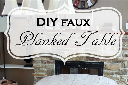 DIY Faux Planked Table
