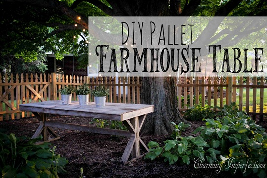 DIY Pallet Farmhouse Table