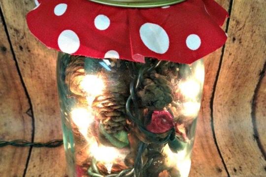Glowing Potpourri Jar Handmade Christmas Gift