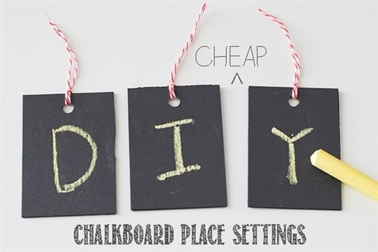 How To Make DIY Chalkboard Place Cards