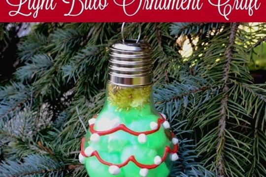 DIY Christmas Tree Light Bulb Ornament