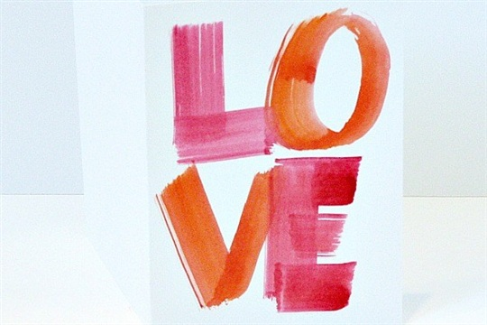 Make Watercolor Valentine Cards