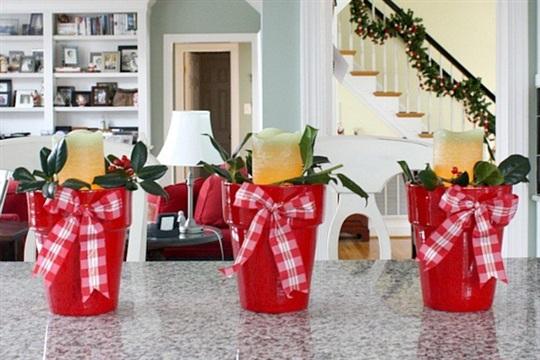 DIY Holiday Candle Pots