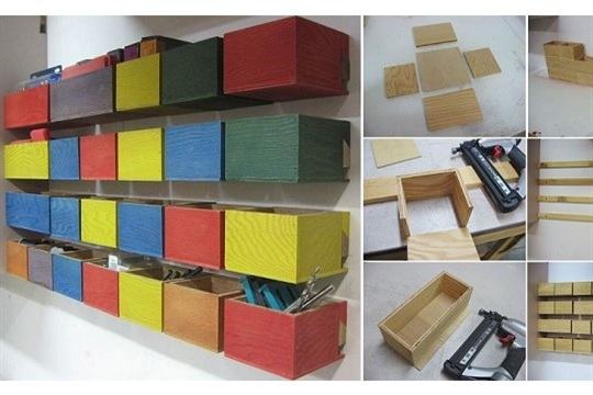 DIY Easy Hardware Storage Bins