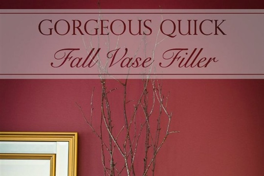 Gorgeous Quick Fall Vase Filler