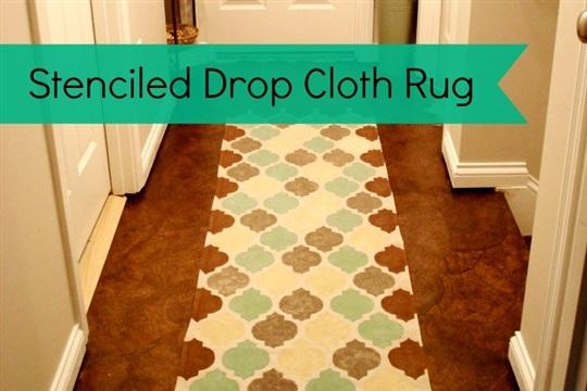 Make A Drop Cloth Rug