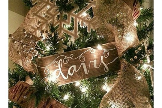 Rustic Stained Wood Ornament Tutorial