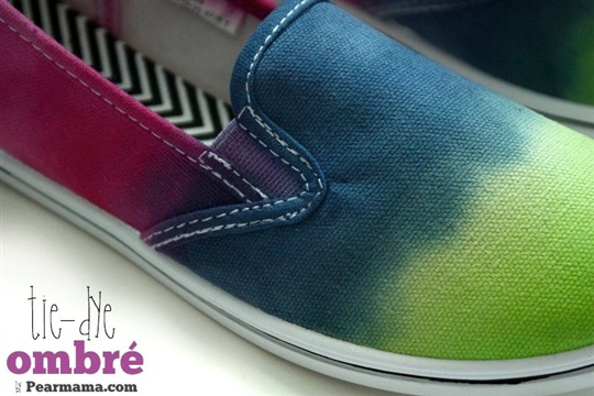 How to Tie Dye Ombre Shoes